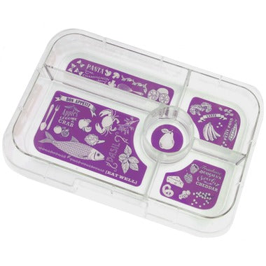 Yumbox Tapas - Extra 5-Compartment Tray, PURPLE Bon Appetit Illustrations