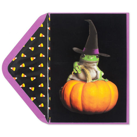 Witch Frog on Flocking: PAPYRUS Greeting Card