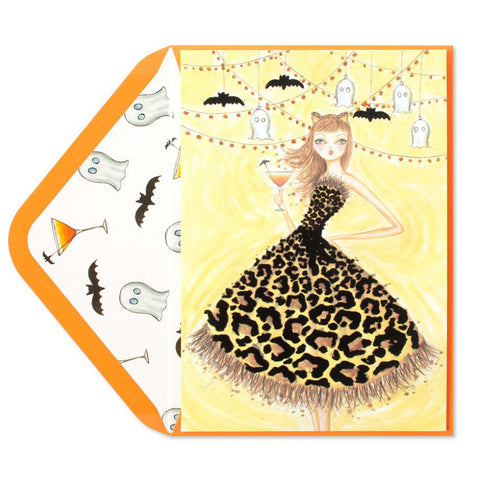 Bella Pilar Halloween Party Girl: PAPYRUS Greeting Card