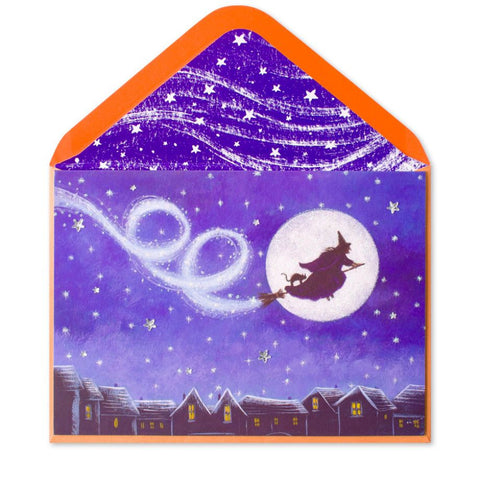 Magical Witch in Full Moon: PAPYRUS Greeting Card