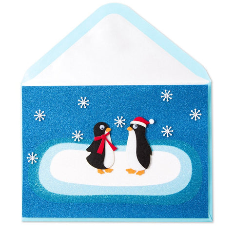 PAPYRUS Greeting Card: Two Felt Penguins | CuteKidStuff.com