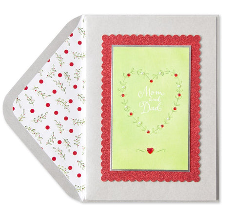 PAPYRUS Greeting Card: Whimsy Heart w/ Gems (For Mom & Dad) | CuteKidStuff.com