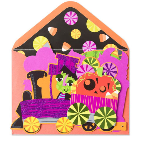 Posable Candy Train: PAPYRUS Greeting Card