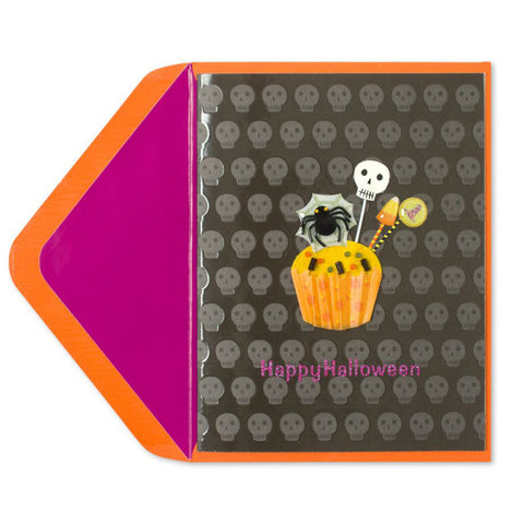 Trick-or-Treat Cupcake Skulls: PAPYRUS Greeting Card