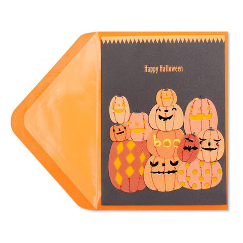 Handmade Pile of Pumpkins: PAPYRUS Greeting Card