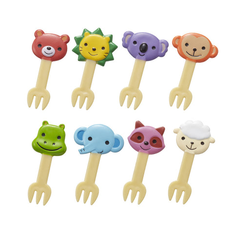 8 Animal Friends Food Forks for Bento Boxes_CuteKidStuff.com