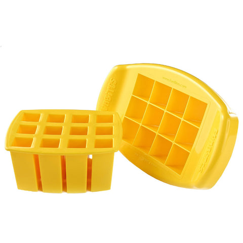 FunBites SQUARES Food Cutter - Yellow
