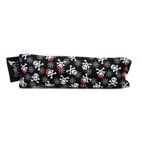 Colibri Wide Reusable Snack Bag - Skulls