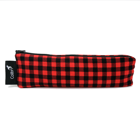 Colibri Wide Reusable Snack Bag - Plaid