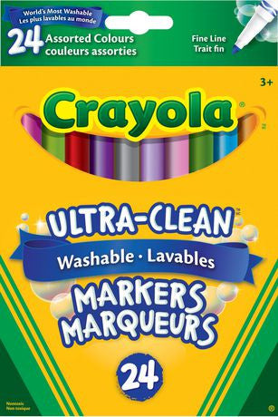Crayola Ultra-Clean Washable Markers (24 Ct)