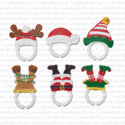 Upside Down Reindeer, Santa and Elf (Rings, 6Pk)