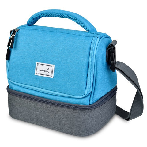 LunchBots Duplex Bag: Aqua