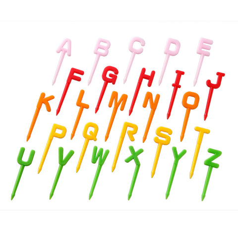Alphabet Food Picks for Bento Boxes_CuteKidStuff.com