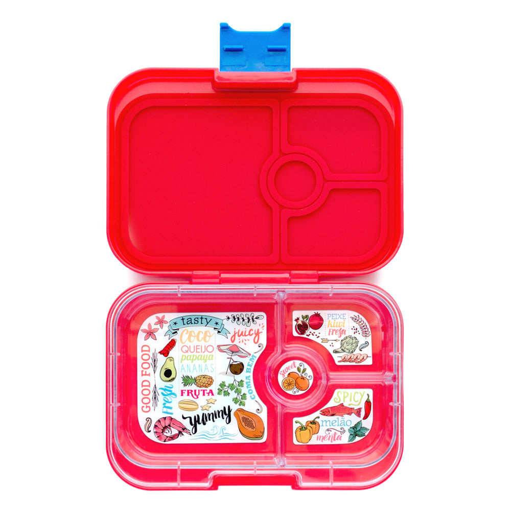 Image result for yumbox snack box leakproof red 4 compartment