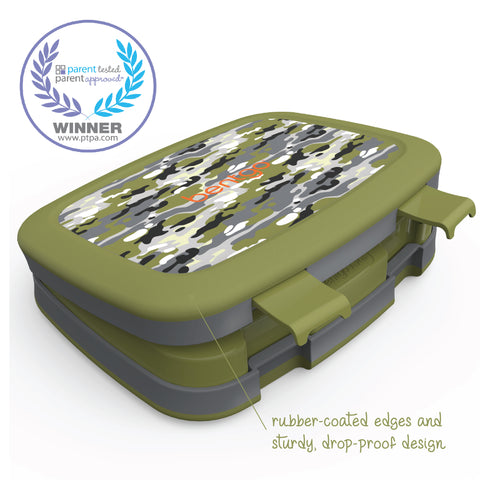 Bentgo Kids Prints - Children's Bento Box: Camouflage (Green/Gray)