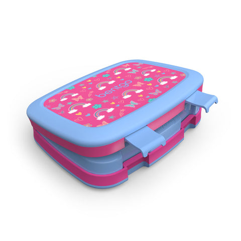 Bentgo Kids Prints - Children's Bento Box: Rainbows and Butterflies