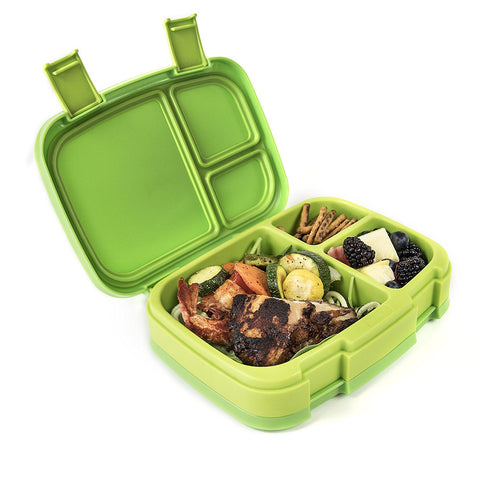 Bentgo Fresh - LARGER 4-Compartment Leakproof Lunch Box: Green