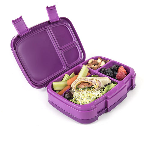 Bentgo Fresh - LARGER 4-Compartment Leakproof Lunch Box: Purple