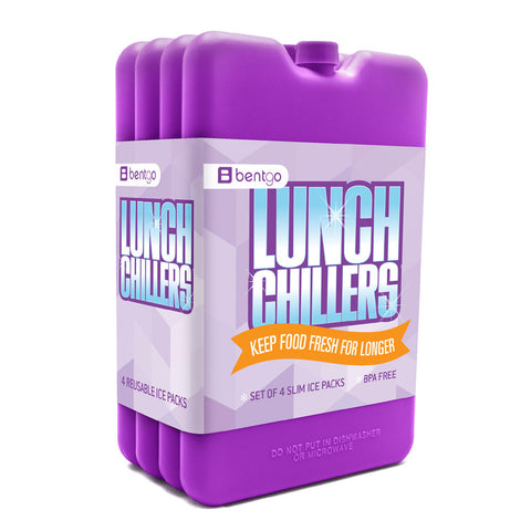 Bentgo Chillers Ice Packs (4 Pack): Purple