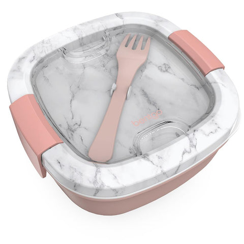 Bentgo Salad Container: Blush Marble