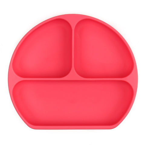 Bumkins Silicone Grip Dish: Red