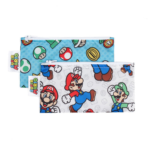 Nintendo Small Reusable Snack Bag (2-Pack) - Super Mario & Luigi