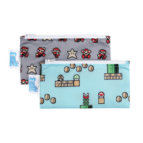 Nintendo Small Reusable Snack Bags (2-Pack) - Super Mario 8-Bit