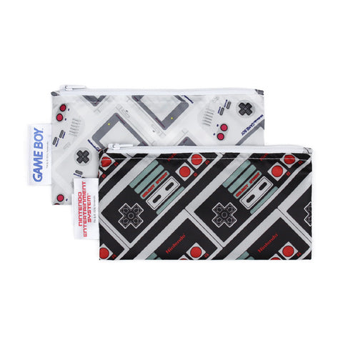 Nintendo Small Reusable Snack Bag (2-Pack) - NES GameBoy Controller