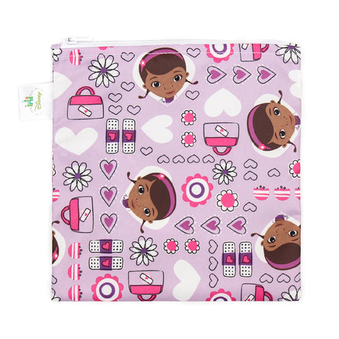 Bumkins Disney Large Reusable Snack Bags: Doc McStuffins Purple