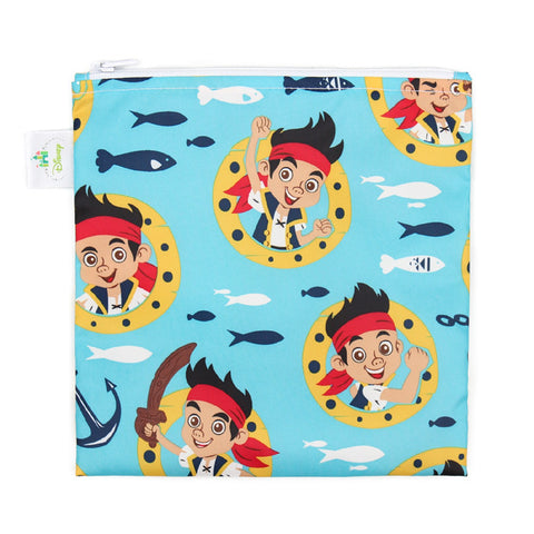 Bumkins Disney Large Reusable Snack Bags: Jake Blue