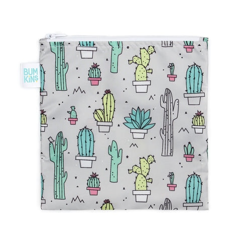 Bumkins Large Reusable Snack Bag: Cactus