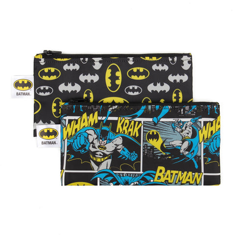 Bumkins Small Reusable Snack Bags (2 pack): Batman