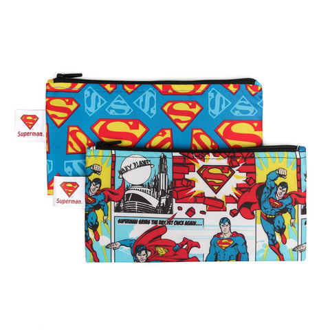 Bumkins Small Reusable Snack Bags (2 pack): Superman