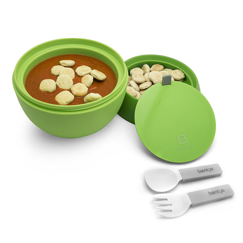 Bentgo Bowl - Insulated Leakproof Lunch Container & Retractable Utensils Set: Green