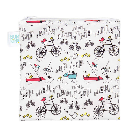 Bumkins Large Reusable Snack Bags: Bicycles