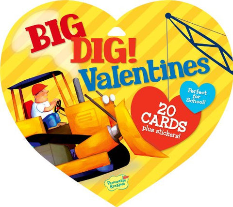 Peaceable Kingdom BIG DIG Valentine Heart Pack (20 cards & 48 Stickers) | CuteKidStuff.com