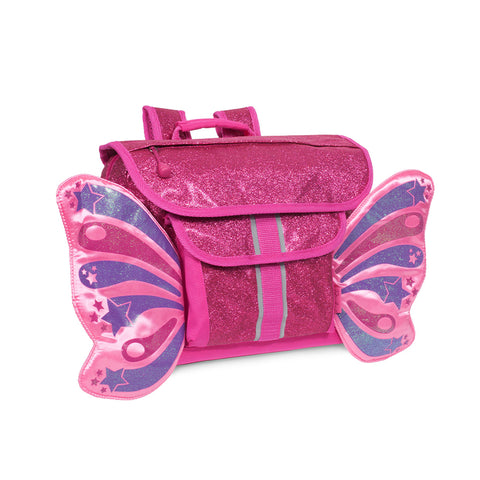 Bixbee Backpack: Sparkalicious Ruby Raspberry Butterflyer (Small)