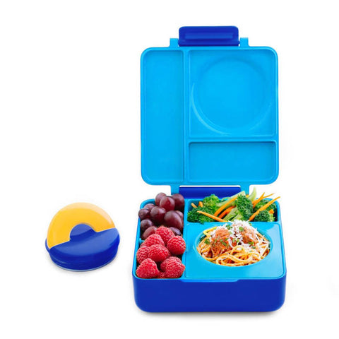 OmieBox Hot & Cold Insulated Bento Lunch Box - Blue Sky