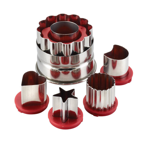 Cake Boss 6-Piece Classic Linzer Cookie Cutter Set