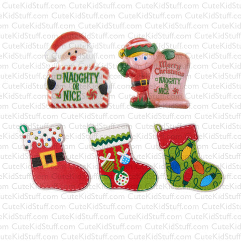Naughty, Nice & Stockings (Rings, 5Pk)