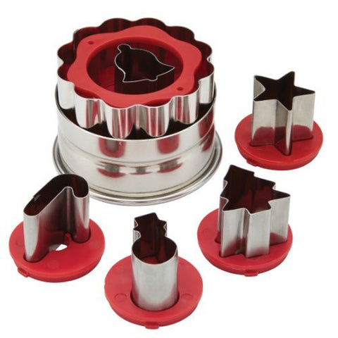Cake Boss 6-Piece Christmas Linzer Cookie Cutter Set