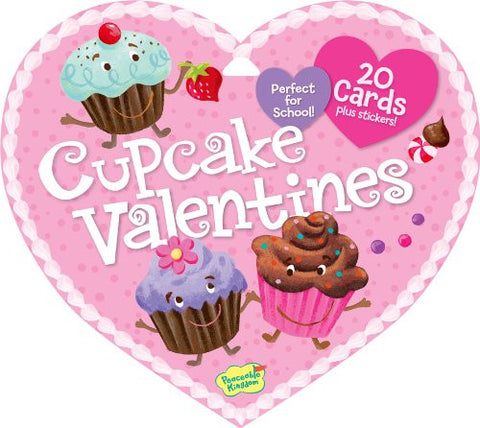 Peaceable Kingdom CUPCAKE Valentine Heart Pack (20 cards & 48 Stickers) | CuteKidStuff.com