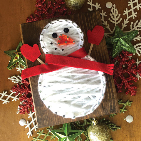 DIY Mini String Art Kit: Snowman