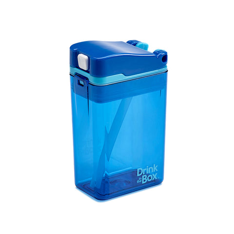 Drink-in-the-Box (NEW DESIGN!) 8oz Reusable Drink Box: Blue