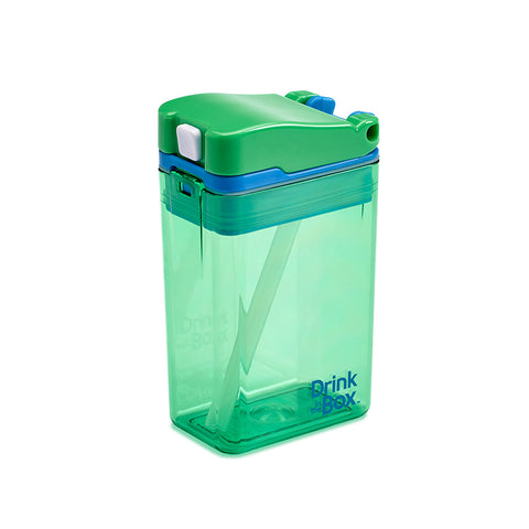 Drink-in-the-Box (NEW DESIGN!) 8oz Reusable Drink Box: Green