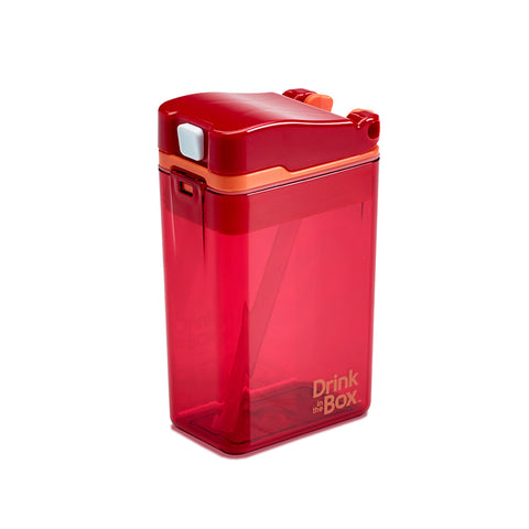 Drink-in-the-Box (NEW DESIGN!) 8oz Reusable Drink Box: Red
