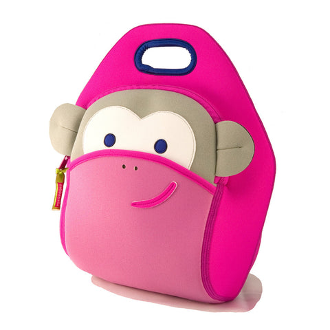 Dabbawalla Pink Monkey See, Monkey Do! Washable Lunch Bag