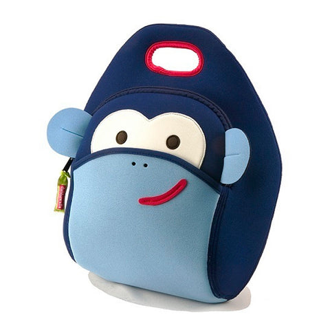 Dabbawalla Blue Monkey See, Monkey Do! Washable Lunch Bag