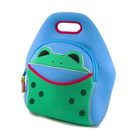 Dabbawalla Hop To It Blue Frog Washable Lunch Bag