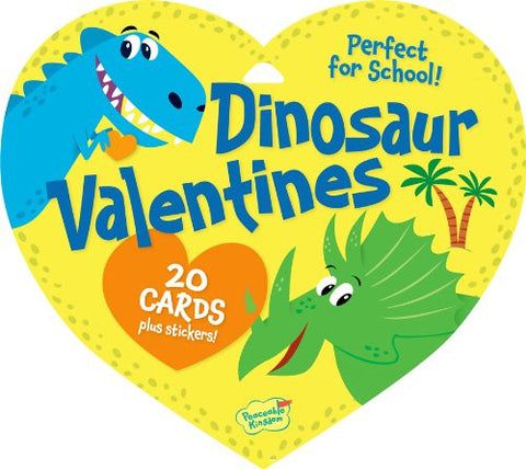 Peaceable Kingdom DINOSAUR Valentine Heart Pack (20 Cards & 48 Stickers) | CuteKidStuff.com
